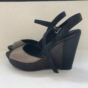 Victor Alfaro Shoes - Victor Alfaro open toe wedge heels